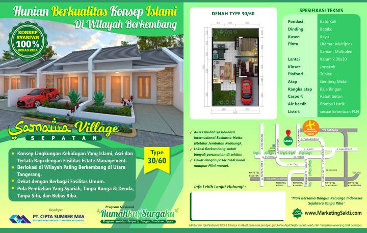 Flyer Samawa Village Sepatan