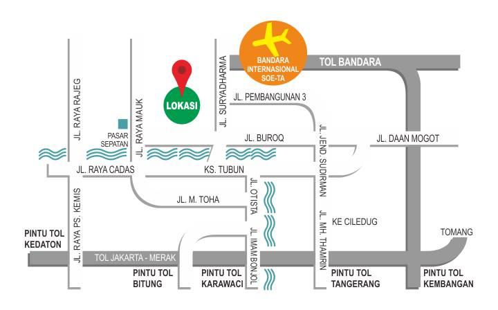 Lokasi Samawa Village Sepatan