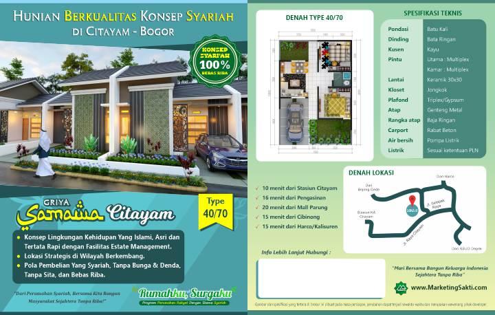 Flyer Griya Samawa Citayam 40-70