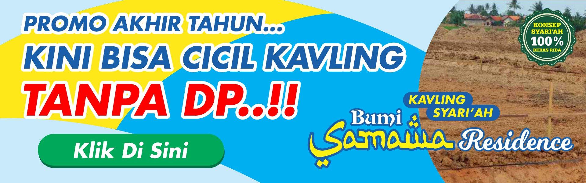 Promo kavling Tanpa DP